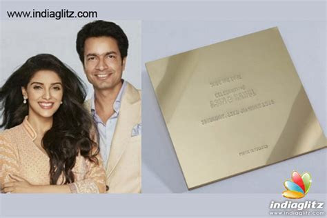REVEALED: Asin's Wedding Invitation Card   Bollywood Movie