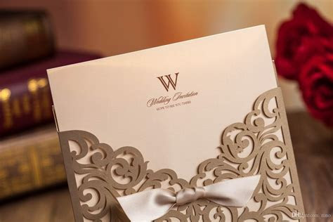 Wedding Invitations Cards Laser Cut Wedding Invitations