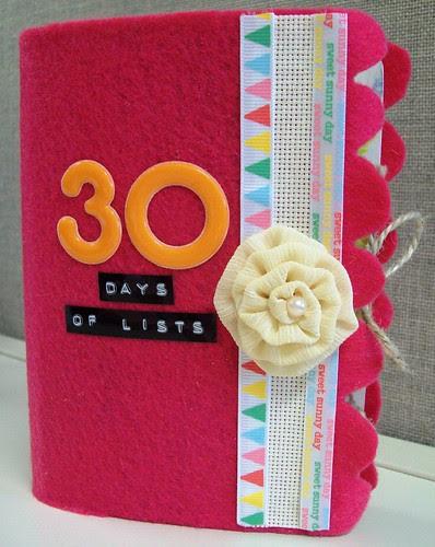 30 days of lists album