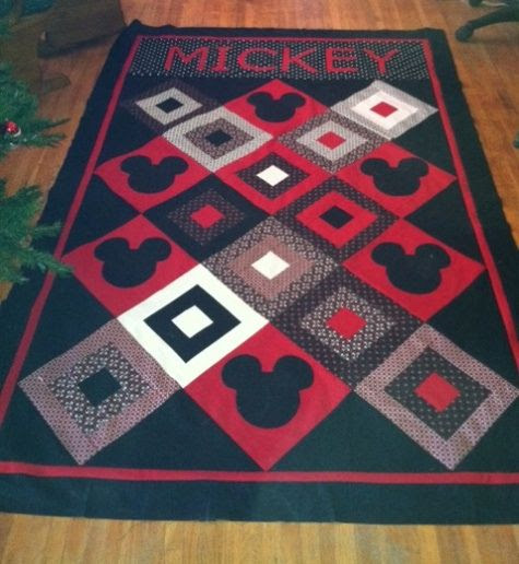 I know exactly who I could make this for!  Mickey Mouse Quilt idea