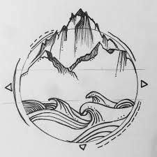pics   favorite geometric tattoos mountain tattoo