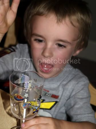 Connor chalice craft at Bellas 5th Birthday Party