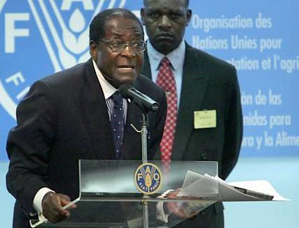 President Robert Mugabe of Zimbabwe speaking at the 60th anniversary conference of the United Nations Food Programme. by Pan-African News Wire File Photos