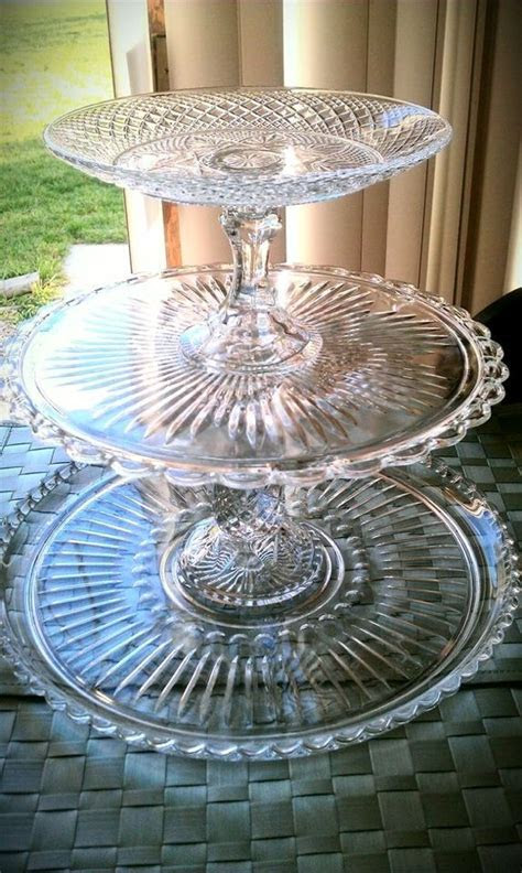 I LOVE to make cake stands from glass plates I get from