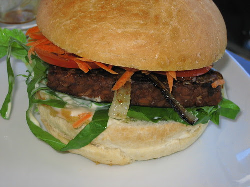 tempeh burger at source foods