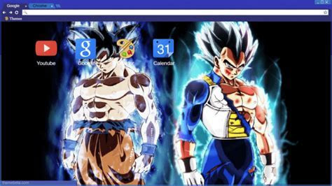 Ultra Instinct Goku and Vegeta Chrome Theme   ThemeBeta