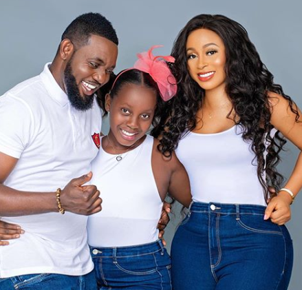 Comedian, AY and wife, Mabel celebrate 11th wedding anniversary with beautiful family photo