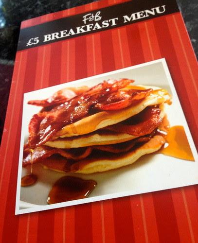 Frankie & Benny Breakfast Menu