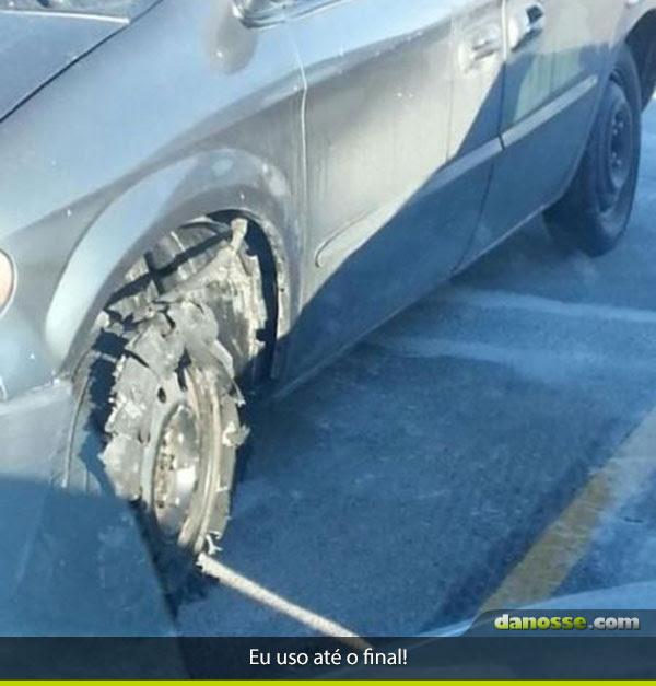 Chegou  a hora de trocar o pneu?