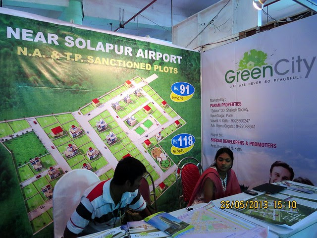 Green City N A - T P Sanctioned Plots  Solapur - Visit Sakal Agrowon Green Home Expo, 25th and 26th May, 2013