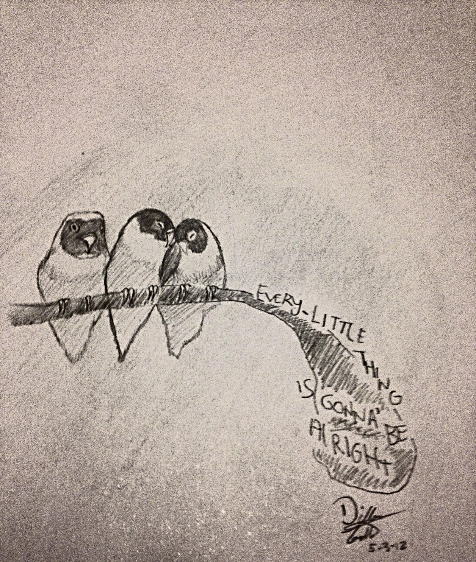 Bob Marley Three Little Birds Drawing Free Images