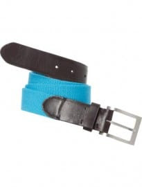 Austin Reed Bright Blue Leather Canvas Belt 35mm