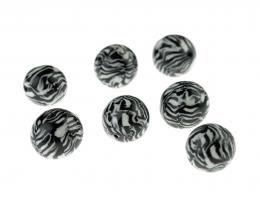 1x Monochrome Polymer Clay Beads 13mm