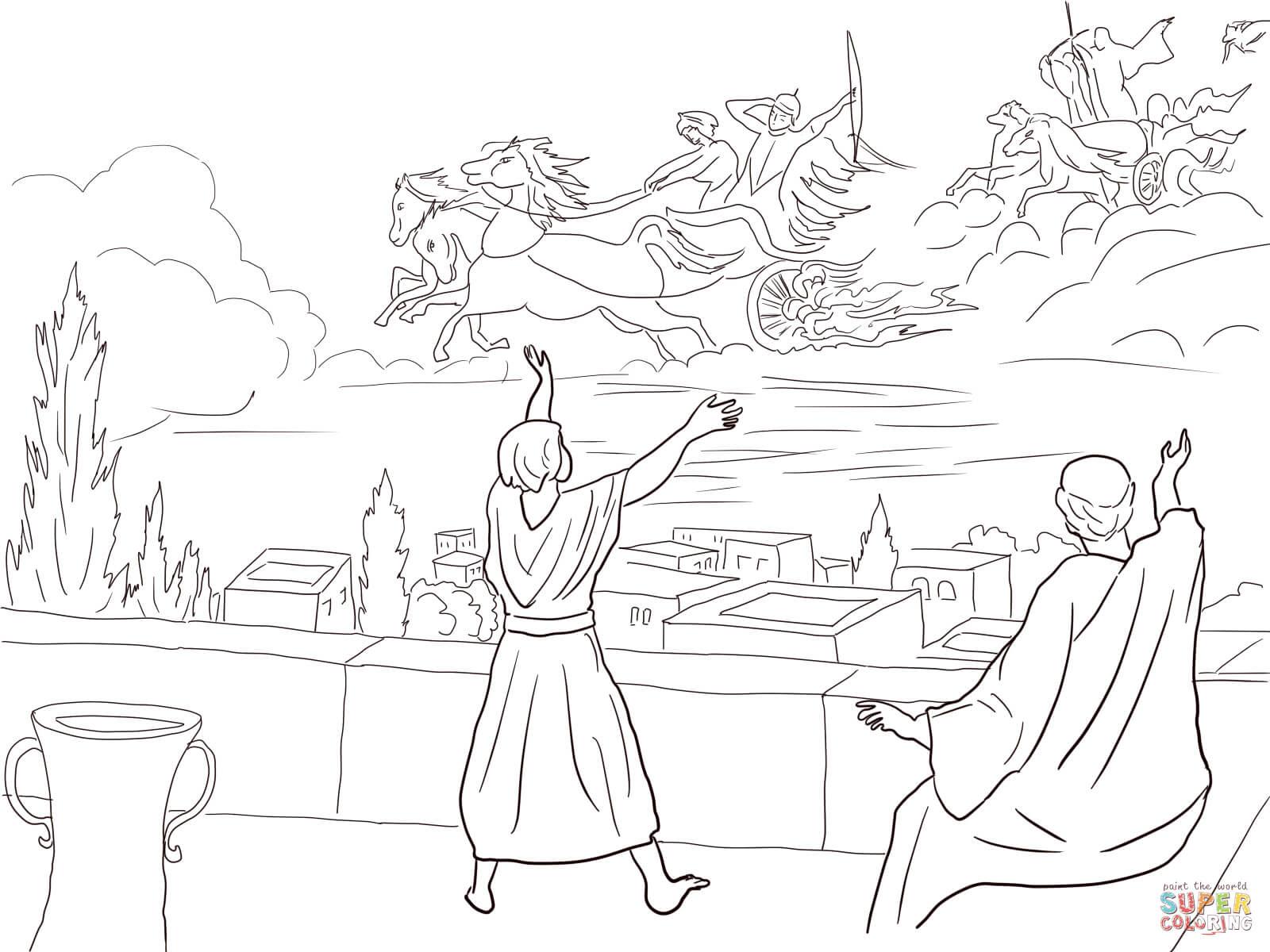 10 elisha invisible army coloring page