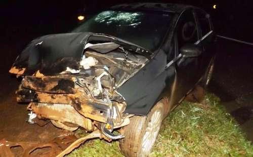 Cantagalo - PRF registrou acidente na BR 277, KM 416