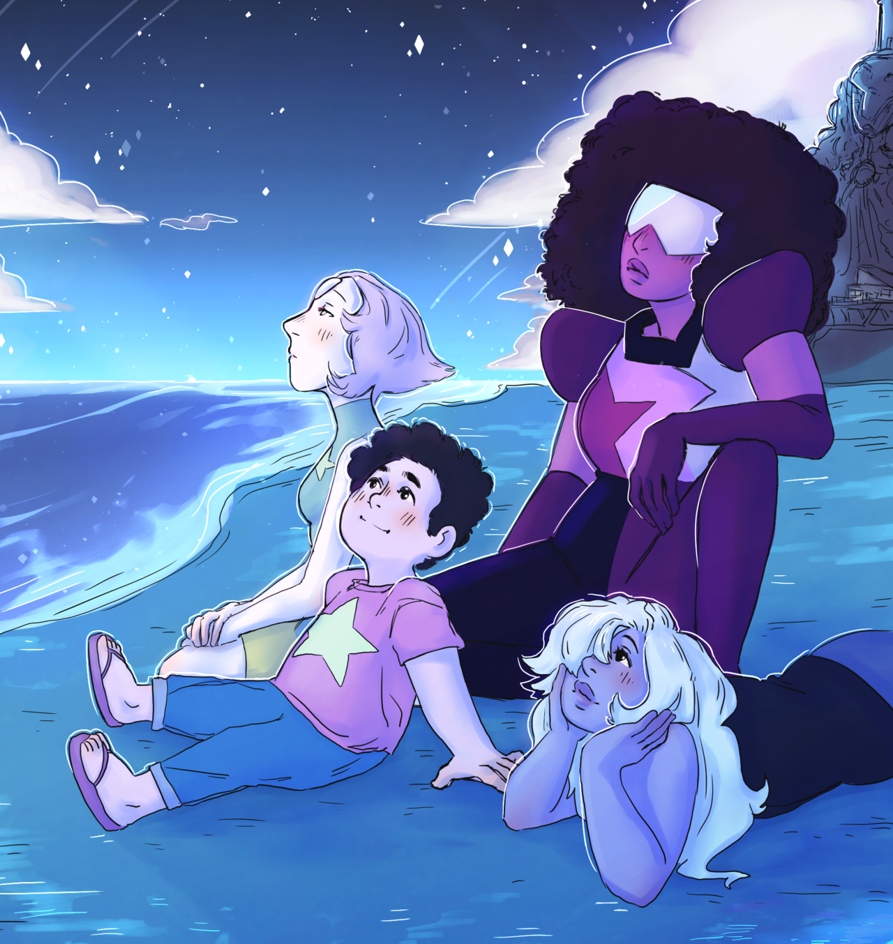 ♪That's why the people of this world believe in Garnet, Amethyst, and Pearl and Steven♪ [[MORE]]tags: @ultimate-queen-of-fandoms @hell-yeah-dan-howell @hi-disappointed-im-daughter