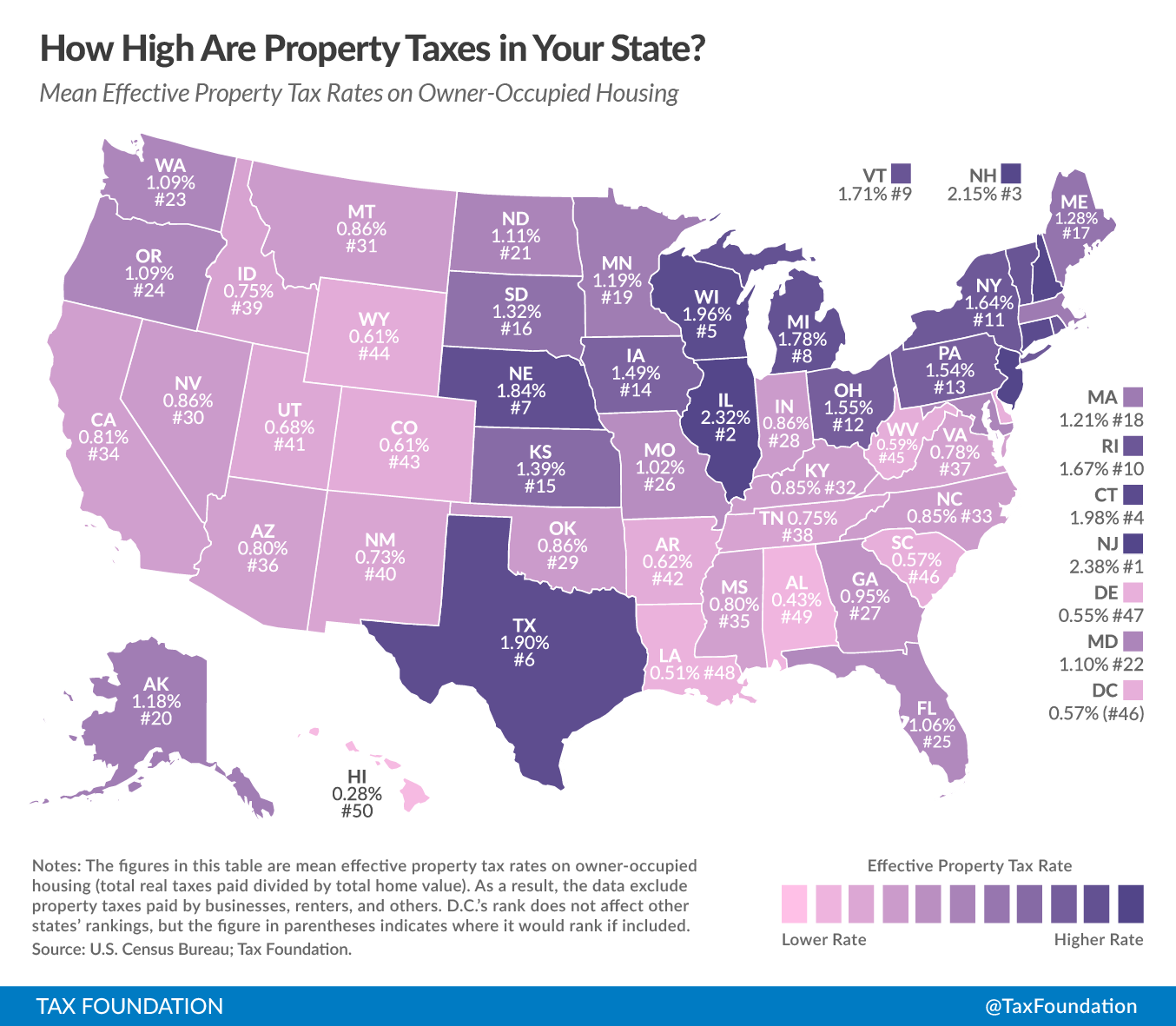 No State Income Tax States Map.Things Have Changed Property Taxes