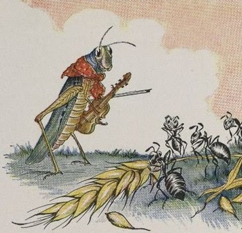 "English: ""The Ant and the Grasshopper&quo..."