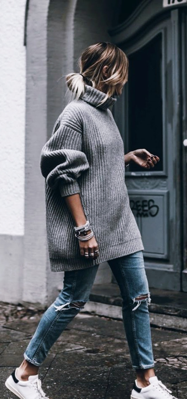 40 off to work oversized sweater outfits  buzz 2018
