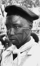 Makonde facial tattooing.