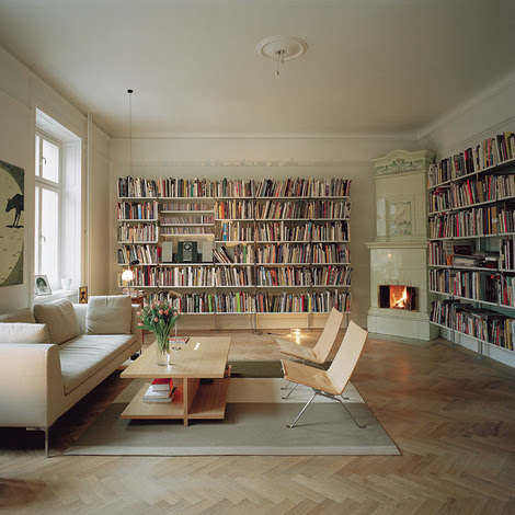 Home Designing — Home Library Design