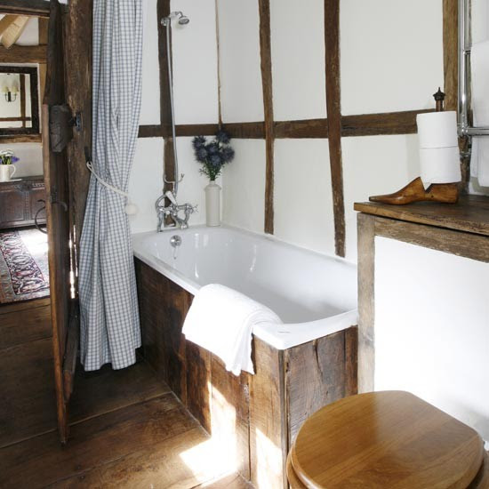 Small Country Bathroom Rustic Ideas Housetohome