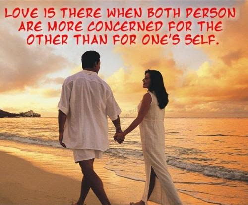Love Is There When Both Person Are More Concerned For The Other Than