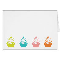 Colourful Cupcake Note Card