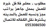 وظائف معلم فلافل للعمل بالمدينة المنورة