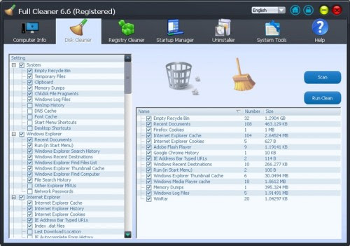 Full Cleaner 6.6.1 Full Version Free Download