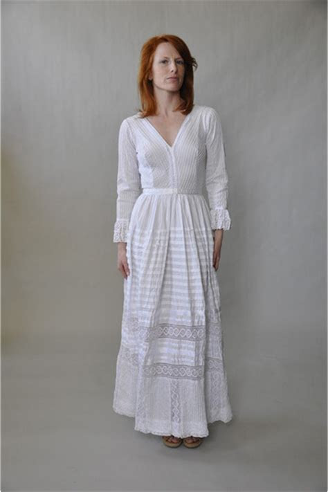 white maxi dress vintage dresses mexican boho