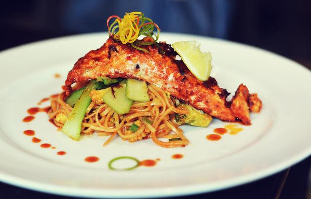 [089] - Norvegian Salmon with Tossed Ramen @AoiMumbai