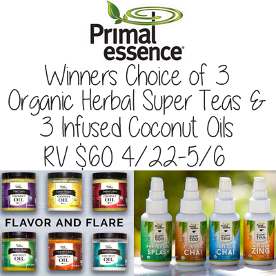 Enter the Primal Essence Spring Giveaway. Ends 5/6
