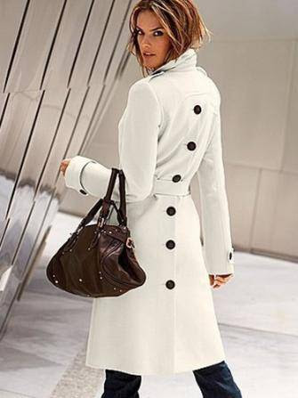 Women Sexy Woolen Coat Medium-long Coat casual Elegant Career Coat