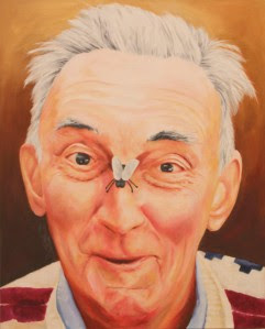 My painting of my dad from a photo I took when he was in his 80's.