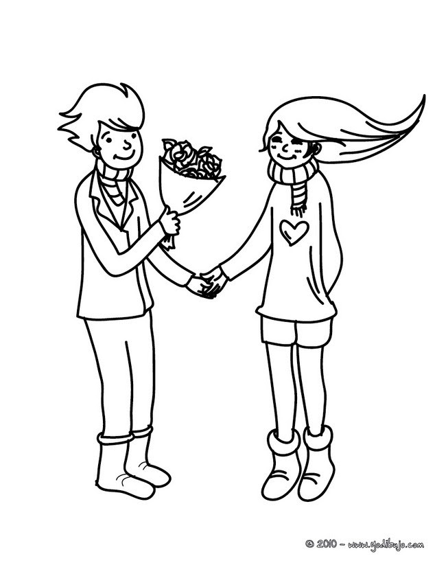 Dibujos Para Colorear Declaración De Amor Eshellokidscom