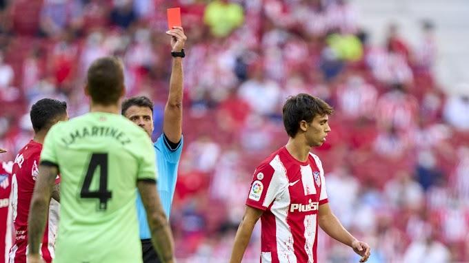 Форварду «Атлетико» Жоау Феликсу грозит бан до 14 матчей за оскорбление судьи и удаление в матче с «Атлетиком»
