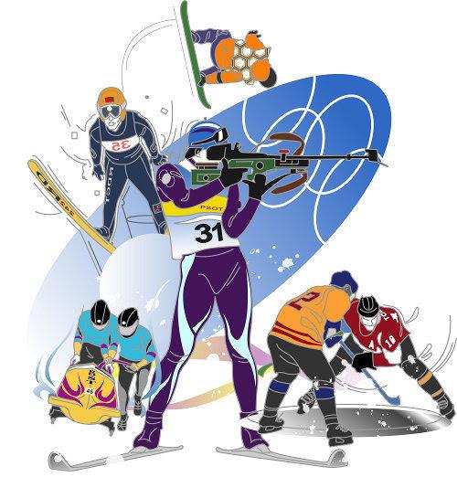 スケート スキー スノボー イラスト Illust Box
