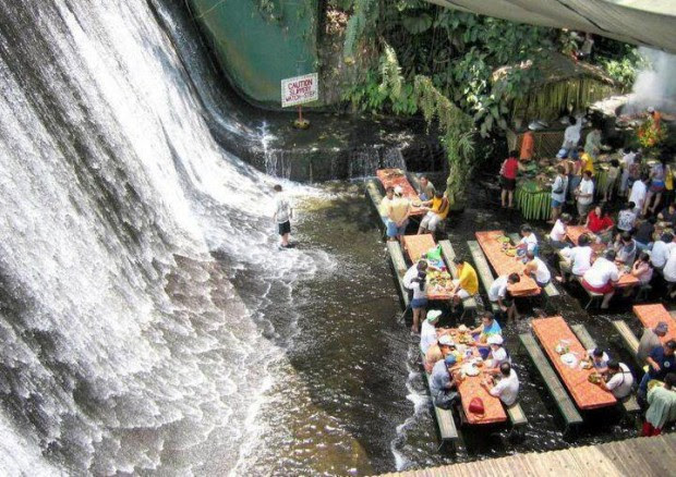 Lunch at Waterfalls Restaurant (Villa Escudero)