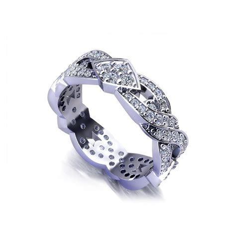 Diamond Crossover Wedding Band   Jewelry Designs