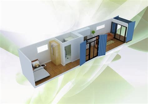simple  minimalist shipping container home design plan