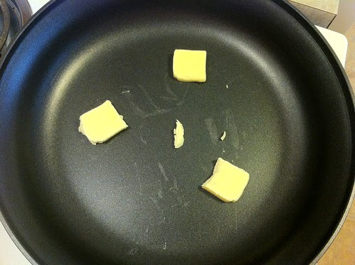 3 Tablespoons of Butter in a Large Skillet
