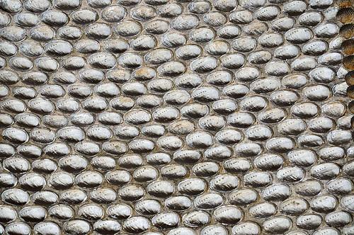 Muschelmosaik an der Grottendecke