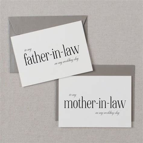 To My Mother In Law, To My Father In Law On My Wedding Day