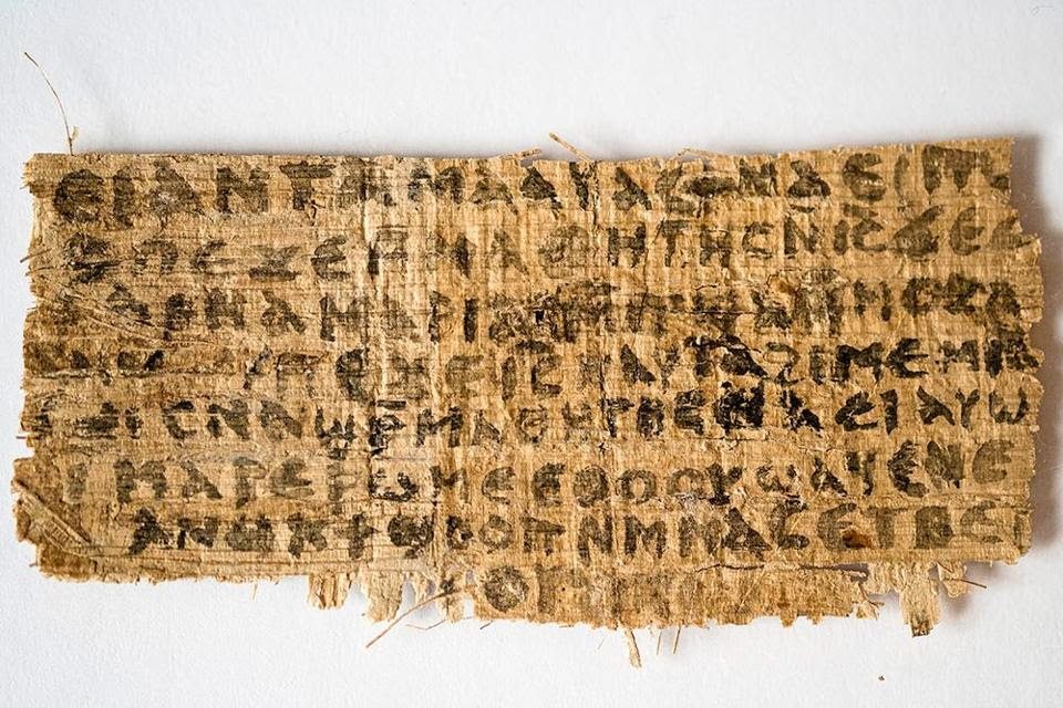 "Fragment of a fourth-century codex contains a dialogue between Jesus and his disciples in which Jesus speaks of ""my wife."" This is the only extant ancient text which explicitly portrays Jesus as referring to a wife."