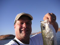 Roland Lee with 24 inch Striper at Lake Powell