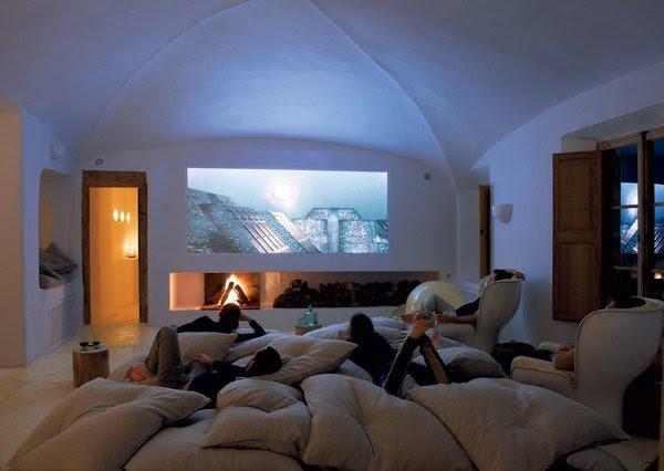 Alternative seating ideas for media room? i.e. pillows, bean bags, etc