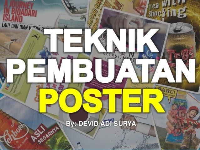 Contoh Poster Mudah Digambar Slogan - Contoh Poster Ku