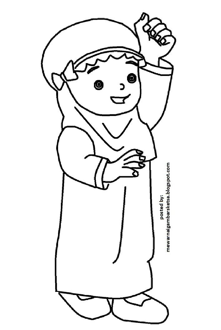 Gambar Kartun Anak Tk Muslim Top Gambar Jidiworkoutco