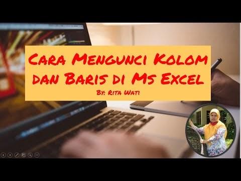 Cara Mengunci Kolom dan Baris Pada Ms.Excell